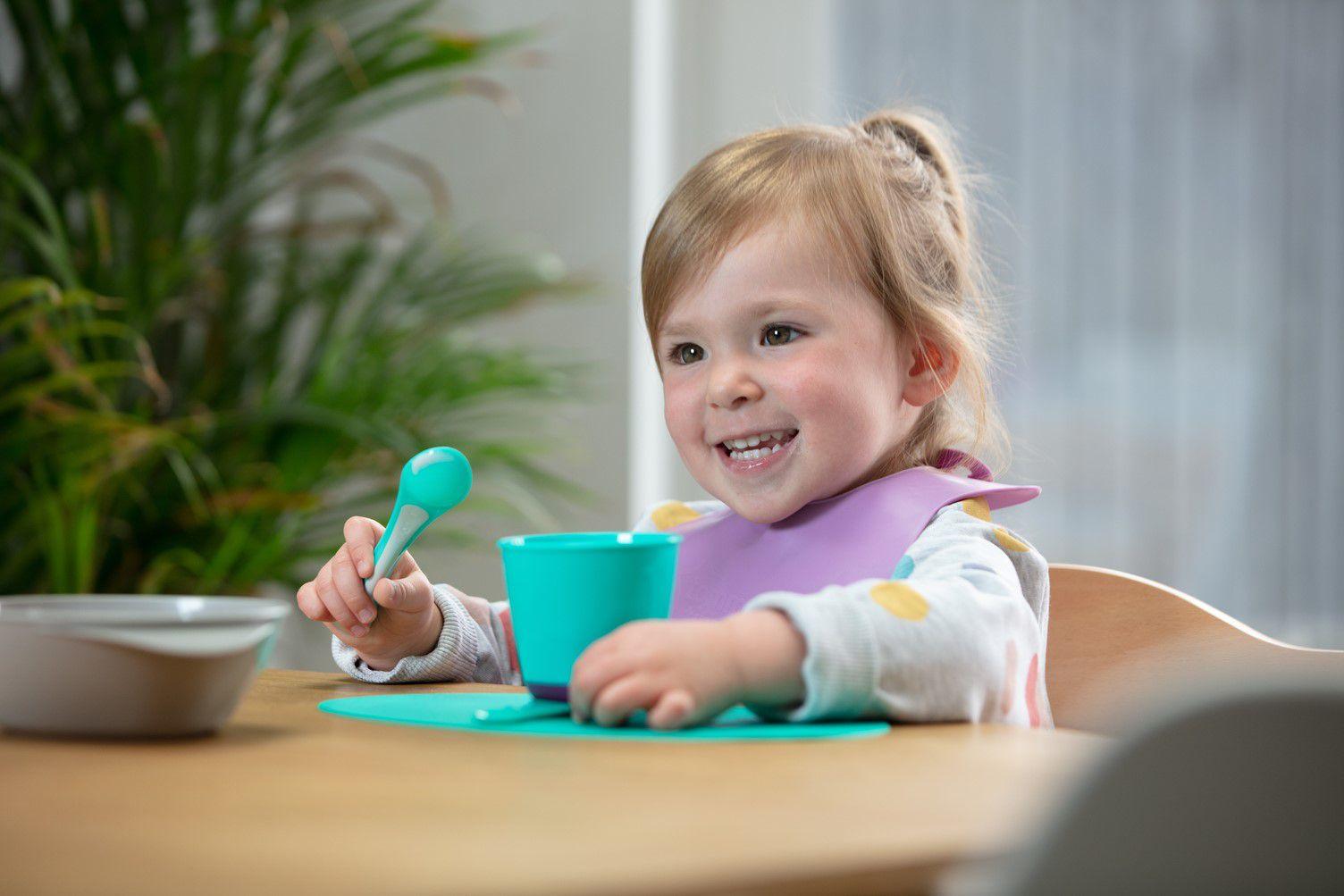 Thìa ăn dặm cho bé Tommee Tippee Feeding từ 7 tháng (set 2 thìa) - Tím/Xanh dương