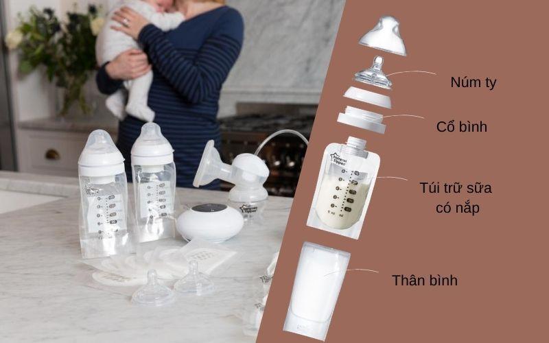 Đặc điểm Bình bú sữa tiện lợi Tommee Tippee Express & Go