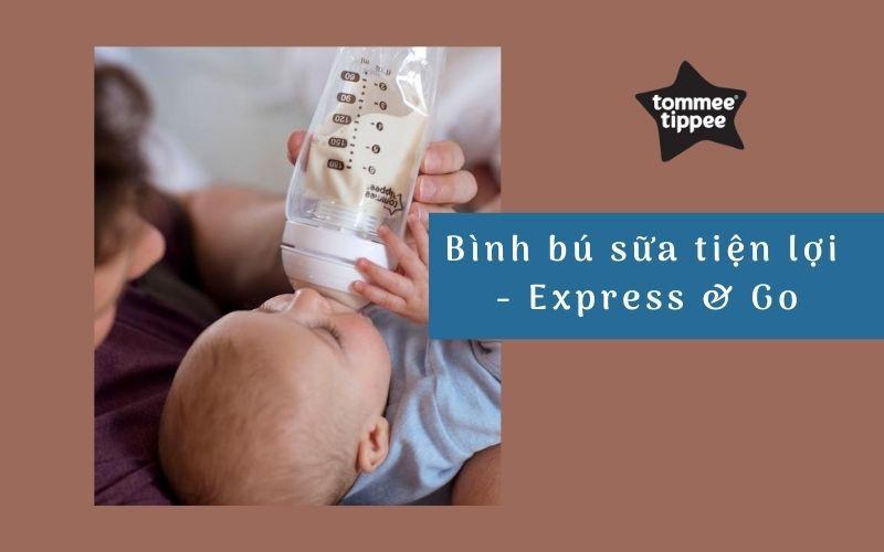 Bình bú sữa tiện lợi Tommee Tippee Express & Go
