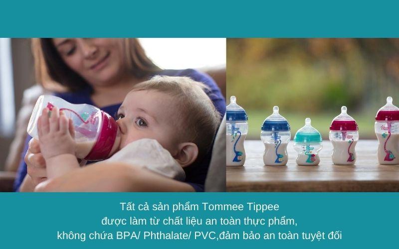 Đặc điểm Bình sữa chống đầy hơi Tommee Tippee Advanced Anti-Colic 260ml (bình đơn) - Hồng