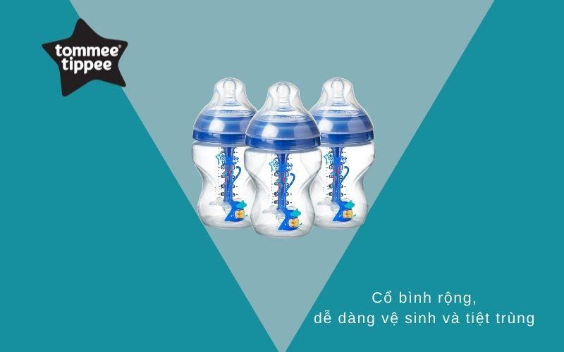 Đặc điểm Bình sữa chống đầy hơi Tommee Tippee Advanced Anti-Colic 260ml (bình đơn) - Xanh Dương