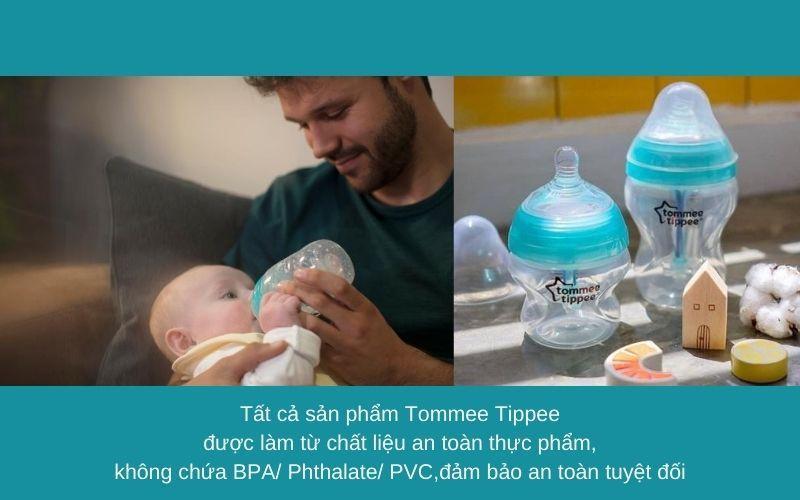 Đặc điểm Bình sữa chống đầy hơi Tommee Tippee Advanced Anti-Colic 260ml (bình đôi) - Trắng/Xanh Ngọc