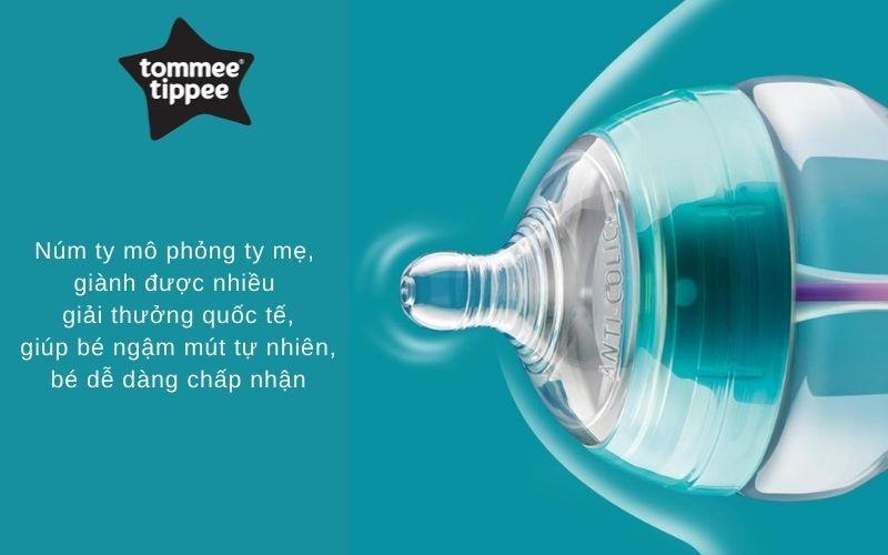 Đặc điểm Bình sữa chống đầy hơi Tommee Tippee Advanced Anti-Colic 260ml (bình đôi) - Xanh Dương