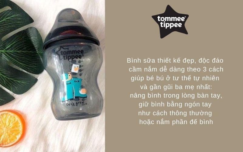 Đặc điểm Bình sữa Tommee Tippee Closer to Nature PP 260ml (bình đơn) - Đen