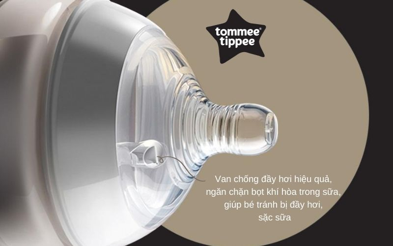 Đặc điểm Bình sữa Tommee Tippee Closer to Nature PP 260ml (bình đơn) - Trắng