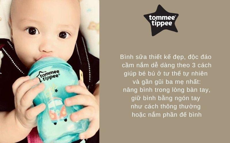 Đặc điểm Bình sữa Tommee Tippee Closer to Nature PP 260ml (bình đơn) - Xanh Ngọc