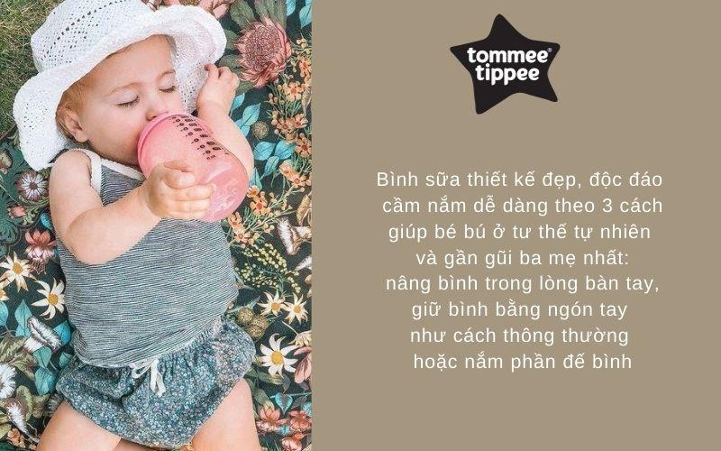 Đặc điểm Bình sữa Tommee Tippee Closer to Nature PP 260ml (bình đôi) - Hồng Đào