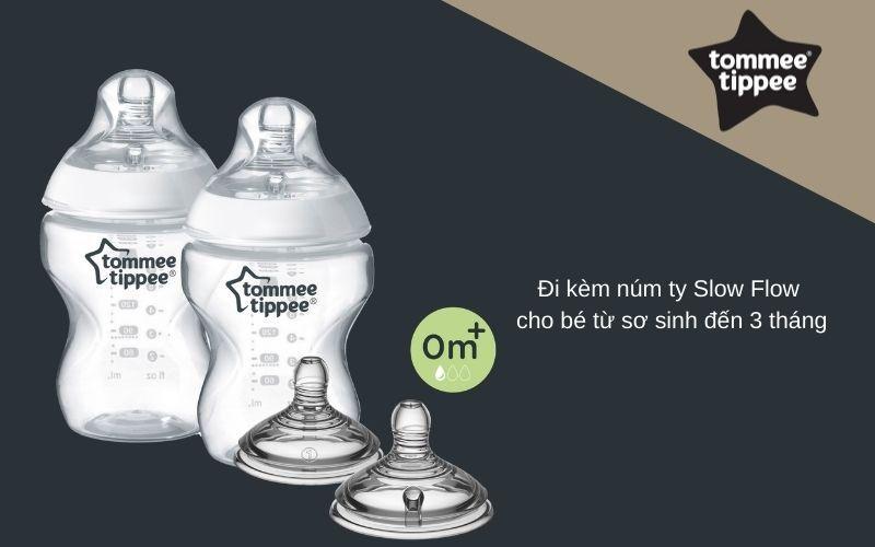 Đặc điểm Bình sữa Tommee Tippee Closer to Nature PP 260ml (bình đôi) - Trắng