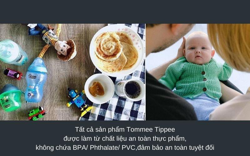 Đặc điểm Bình sữa Tommee Tippee Closer to Nature PP 260ml (bình đôi) - Xanh Dương