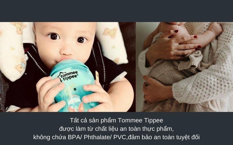Đặc điểm Bình sữa Tommee Tippee Closer to Nature PP 260ml (bình đôi) - Xanh Ngọc