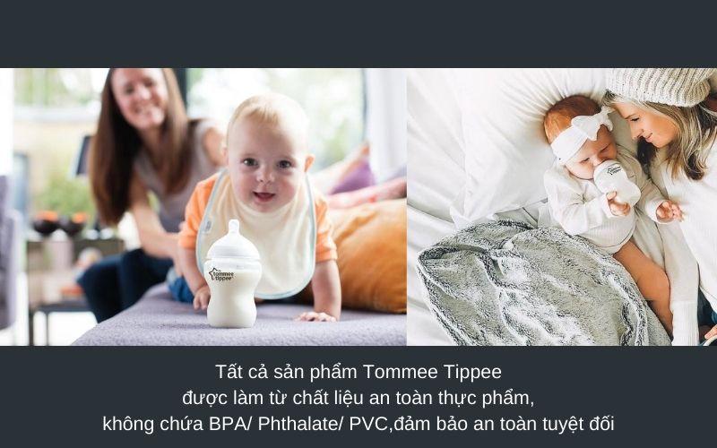 Đặc điểm Bình sữa Tommee Tippee Closer to Nature PP 260ml (bộ 3 bình) - Trắng