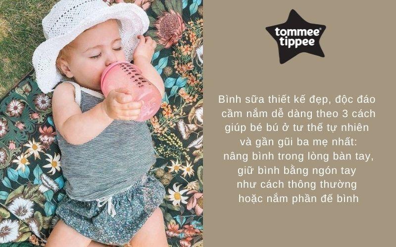 Đặc điểm Bình sữa Tommee Tippee PP 340ml 1 bình Hồng - Closer to Nature