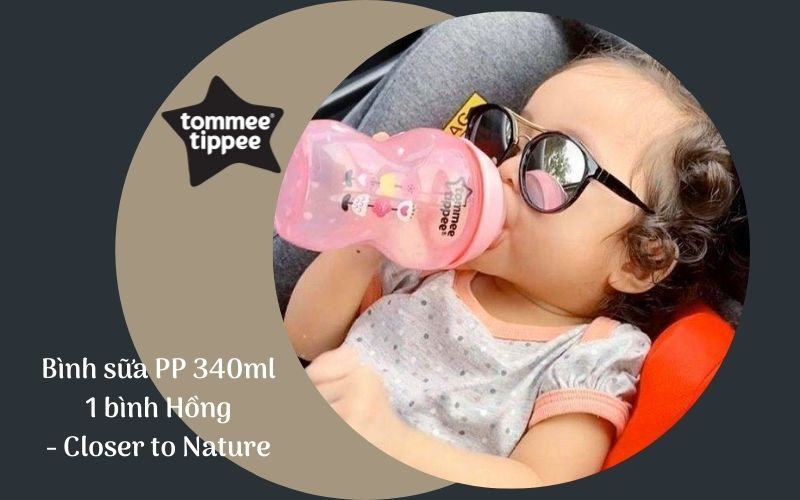 Bình sữa Tommee Tippee PP 340ml 1 bình Hồng - Closer to Nature