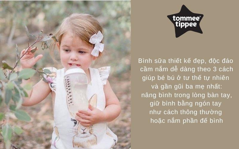 Đặc điểm Bình sữa Tommee Tippee PP 340ml 1 bình Trắng - Closer to Nature