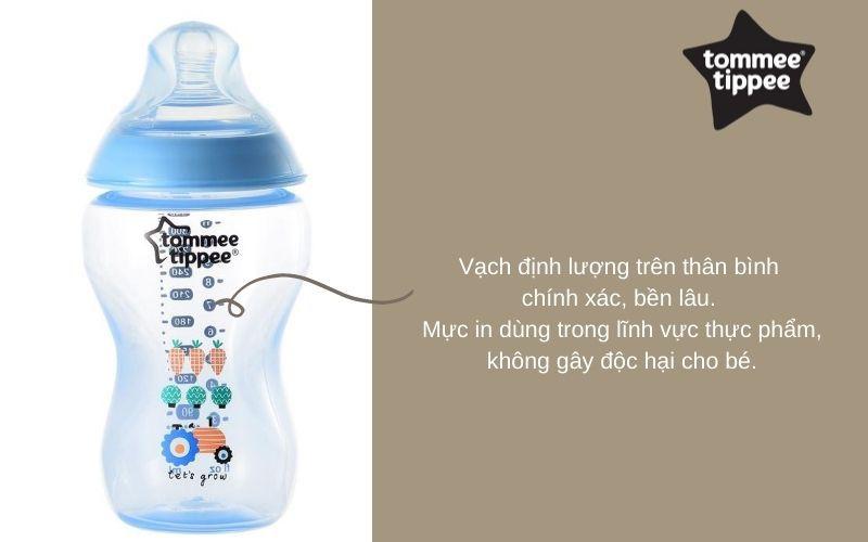Đặc điểm Bình sữa Tommee Tippee PP 340ml 1 bình Xanh Dương - Closer to Nature