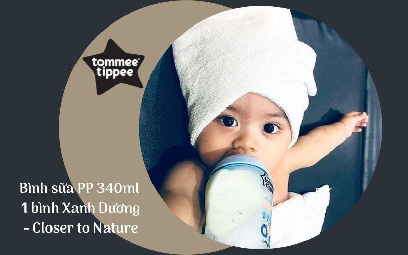 Bình sữa Tommee Tippee PP 340ml 1 bình Xanh Dương - Closer to Nature