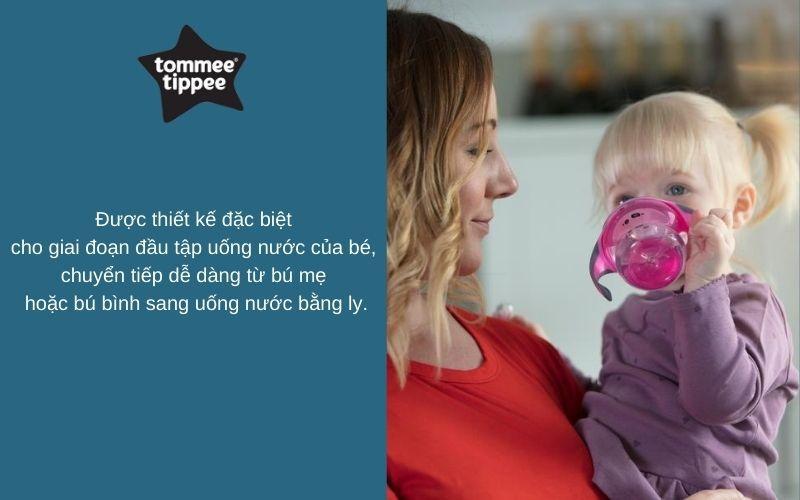 Đặc điểm Bình tập uống chuyển tiếp 2in1 cho bé Tommee Tippee Transition 150ml từ 4-7 tháng - Hồng