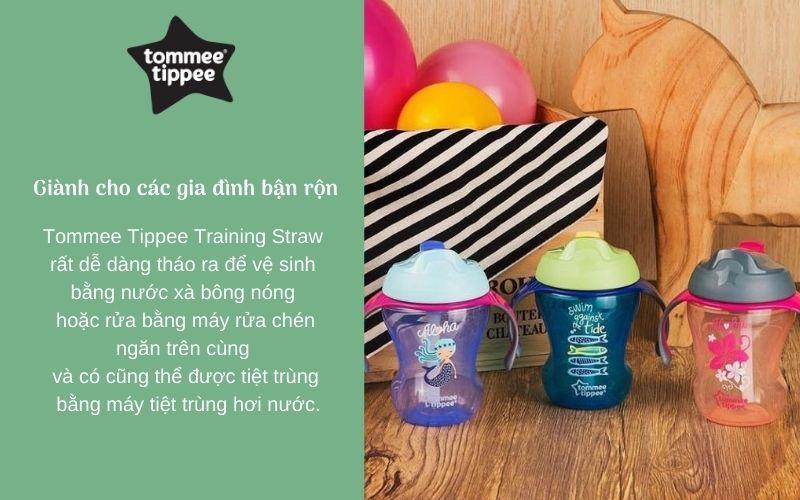 Đặc điểm Bình tập uống có ống hút cho bé Tommee Tippee Training Straw 230ml từ 9 tháng – Xanh Lá