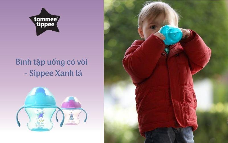 Bình tập uống có vòi cho bé Tommee Tippee First Sippee 150ml từ 4 tháng - Xanh Lá