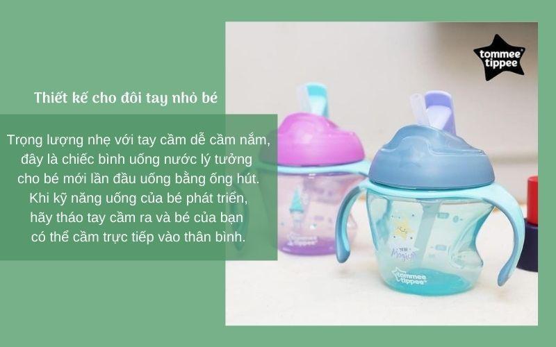 Đặc điểm Bình uống nước có ống hút cho bé Tommee Tippee First Straw 150ml từ 9 tháng – Xanh Lá