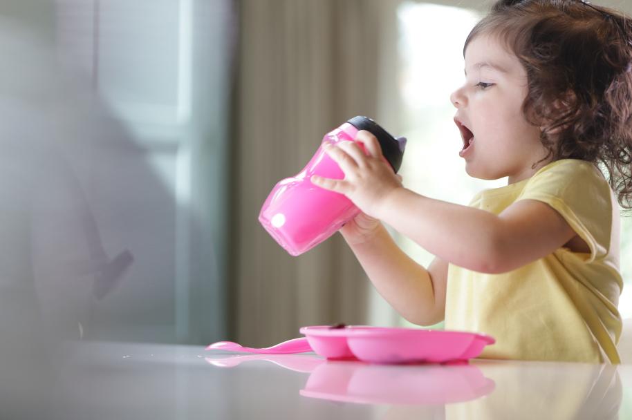Bình uống nước giữ nhiệt có ống hút cho bé Tommee Tippee Insulated Straw 260ml từ 12 tháng - Hồng