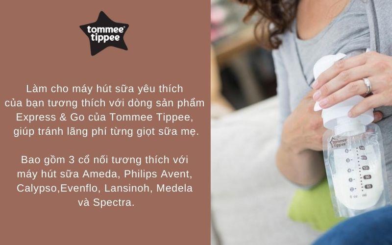 Đặc điểm Bộ cổ nối máy hút sữa Tommee Tippee Express & Go