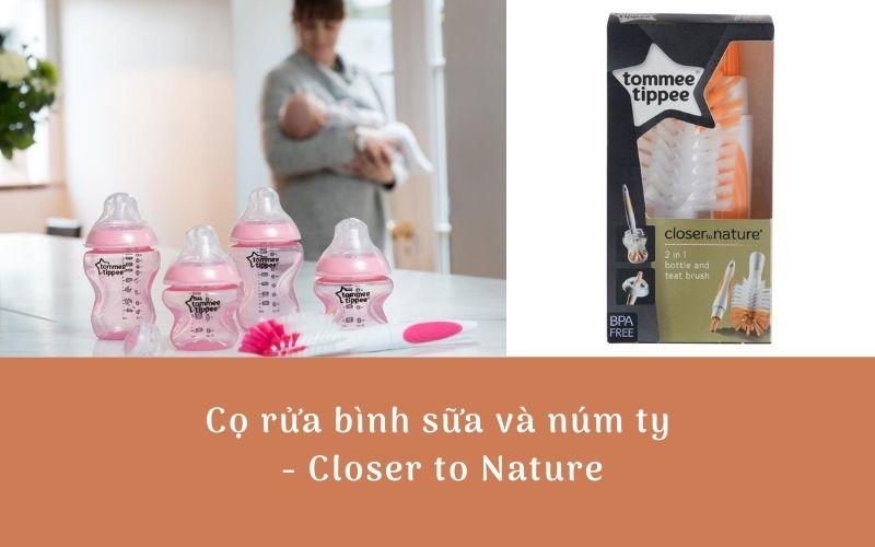 Cọ rửa bình sữa và núm ty Tommee Tippee Closer to Nature