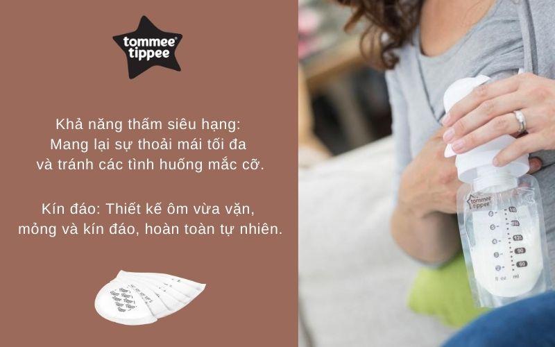 Đặc điểm Miếng lót thấm sữa Tommee Tippee Closer to Nature (hộp 36 miếng)