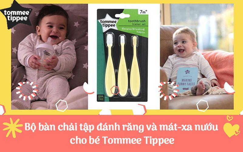 Bộ bàn chải tập đánh răng và mát-xa nướu cho bé Tommee Tippee