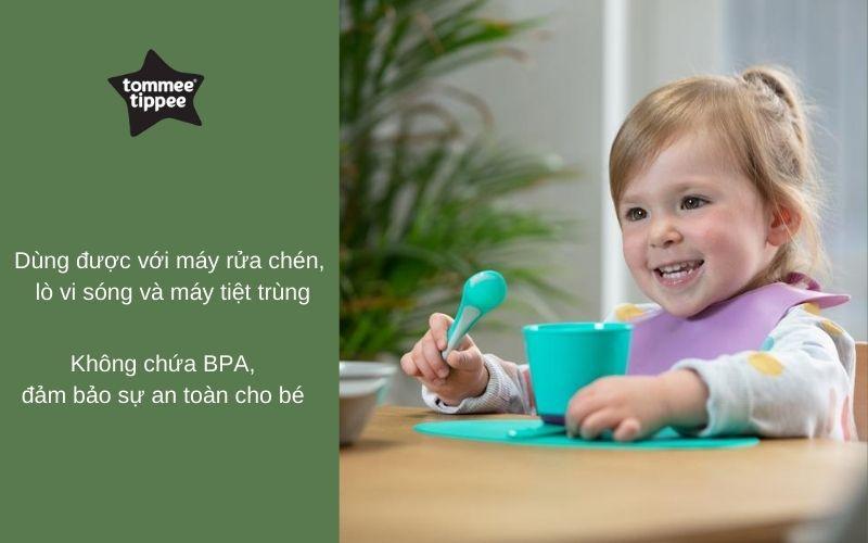 Đặc điểm Thìa ăn dặm cho bé Tommee Tippee Feeding từ 7 tháng (set 2 thìa) - Tím/Xanh dương