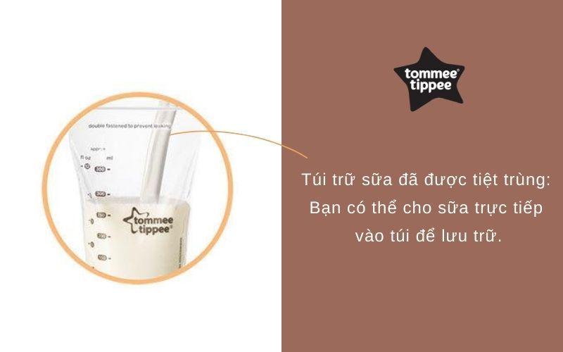 Đặc điểm Túi trữ sữa Tommee Tippee Closer to Nature 350ml (hộp 36 túi)