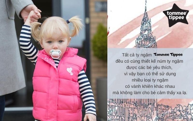 Đặc điểm Ty ngậm cho bé Tommee Tippee Little London 0-6 tháng (vỉ 2 cái) - Xanh/Trắng