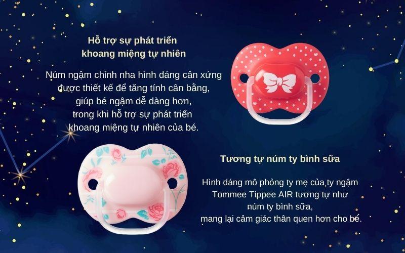 Đặc điểm Ty ngậm cho bé Tommee Tippee Little London 6-18 tháng (vỉ 2 cái) - Hồng/Đỏ