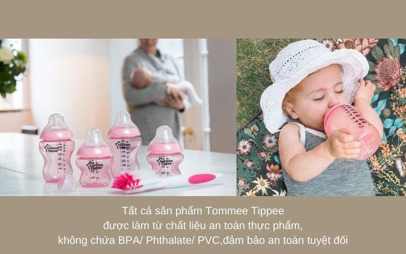 Đặc điểm Bộ bình sữa Tommee Tippee Closer to Nature Newborn - Hồng