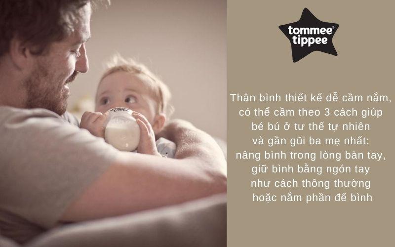 Đặc điểm Bộ bình sữa Tommee Tippee Closer to Nature Newborn - Trắng