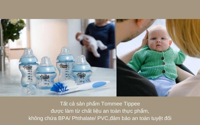 Đặc điểm Bộ bình sữa Tommee Tippee Closer to Nature Newborn - Xanh