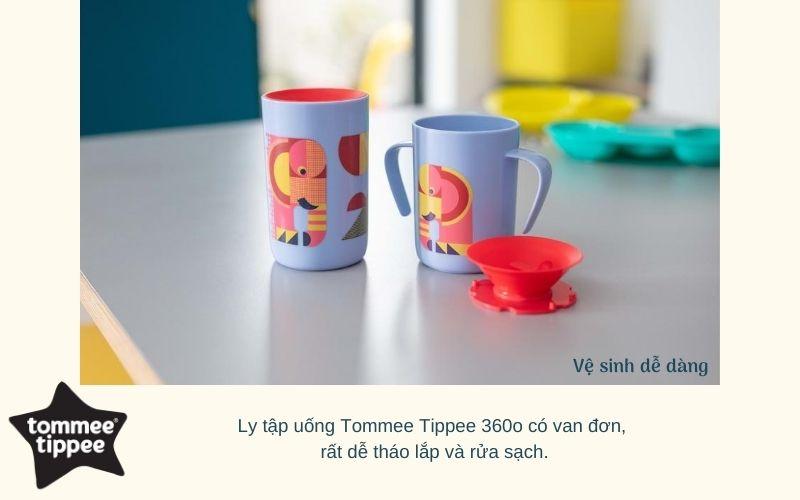 Đặc điểm Ly tập uống nước chống đổ cho bé Tommee Tippee 360 Deco Trainer 200ml từ 6 tháng – Tím