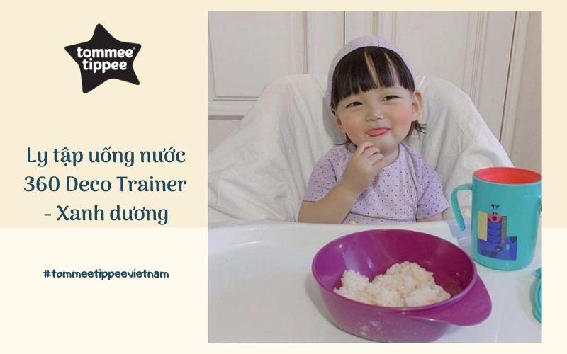 Ly tập uống nước chống đổ cho bé Tommee Tippee 360 Deco Trainer 200ml từ 6 tháng – Xanh Dương