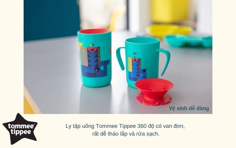 Đặc điểm Ly tập uống nước chống đổ cho bé Tommee Tippee 360 Deco Tumbler 250ml từ 12 tháng – Xanh Dương