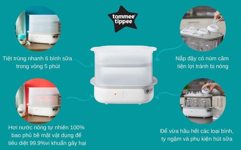 Đặc điểm Máy tiệt trùng hơi nước Tommee Tippee Super-Steam