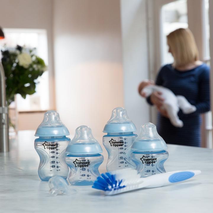 Bộ bình sữa Tommee Tippee Closer to Nature Newborn - Xanh