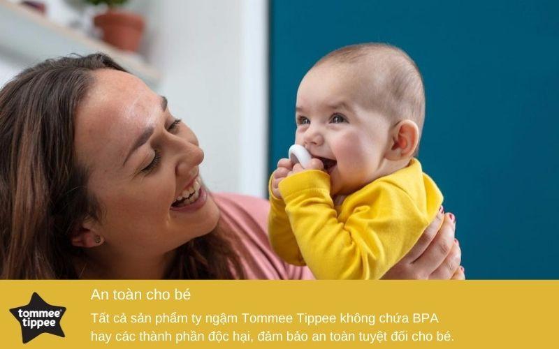 Đặc điểm Ty ngậm mô phỏng ty mẹ Tommee Tippee cho bé 0-6 tháng (vỉ 1 cái)