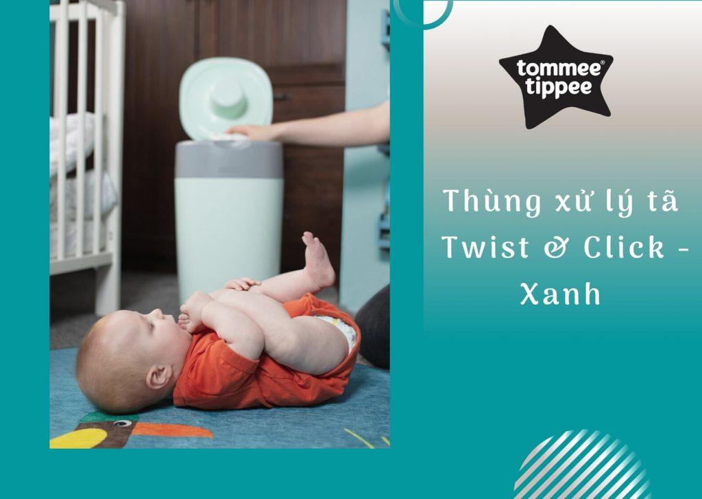 Thùng xử lý tã cho bé Tommee Tippee Twist & Click – Xanh Dương