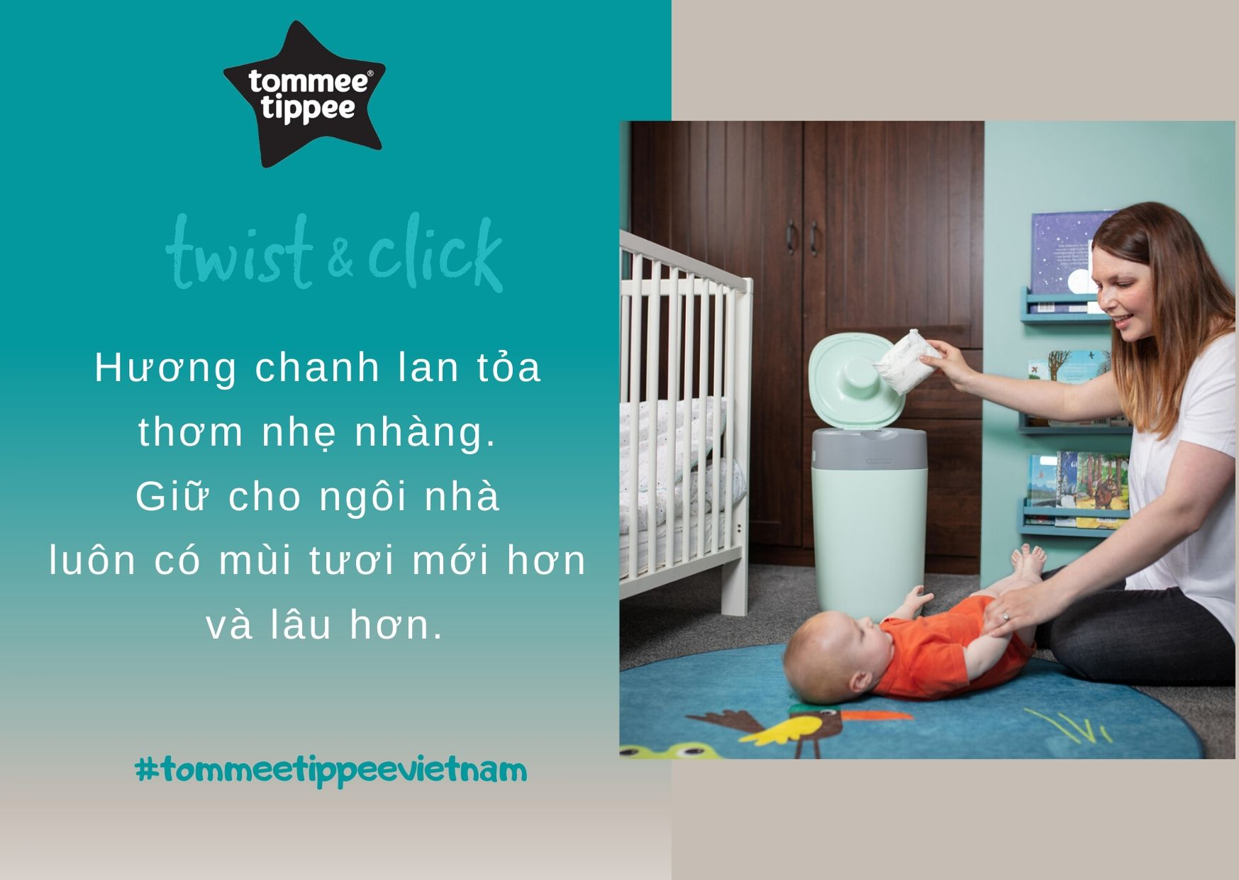 Đặc điểm Túi xử lý tã cho bé Tommee Tippee (3 hộp)