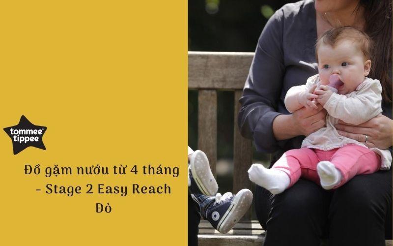 Đồ gặm nướu cho bé Tommee Tippee Easy Reach Stage 2, từ 4 tháng - Đỏ