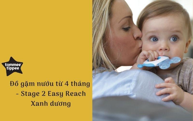 Đồ gặm nướu cho bé Tommee Tippee Easy Reach Stage 2, từ 4 tháng - Xanh dương