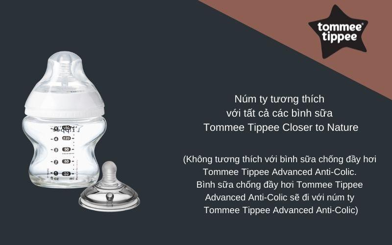 Đặc điểm Núm ty siêu mềm cho bé Tommee Tippee Closer to Nature Fast Flow từ 6 tháng (vỉ 2 cái)