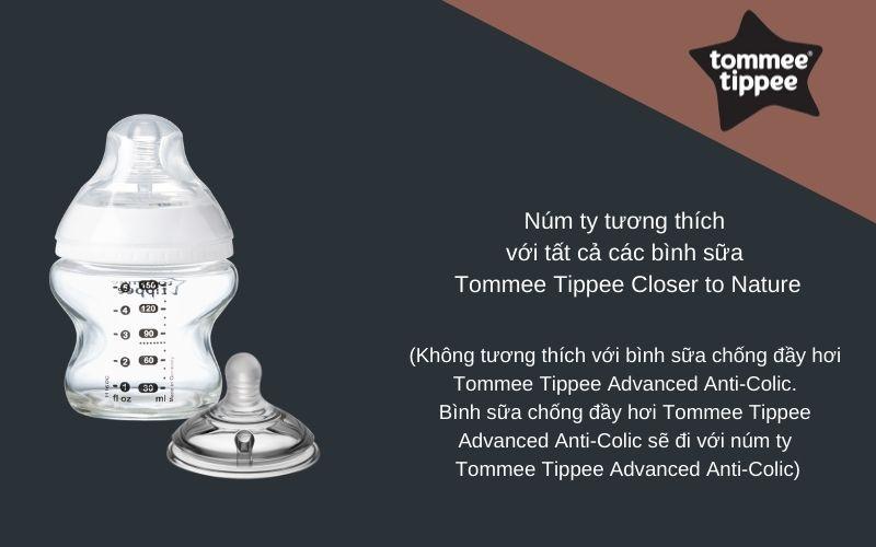 Đặc điểm Núm ty siêu mềm cho bé Tommee Tippee Closer to Nature Slow Flow 0-3 tháng (vỉ 2 cái)