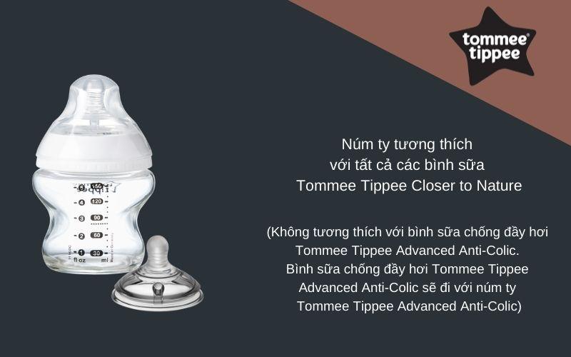 Đặc điểm Núm ty siêu mềm cho bé Tommee Tippee Closer to Nature Variflow từ sơ sinh (vỉ 2 cái)